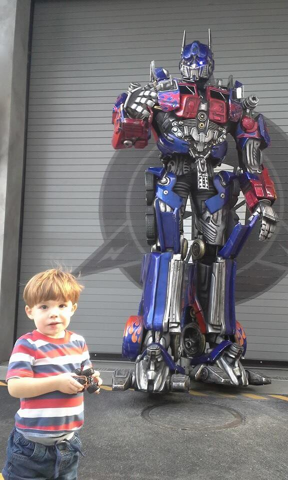 Universal Studios Orlando with a toddler Transformers