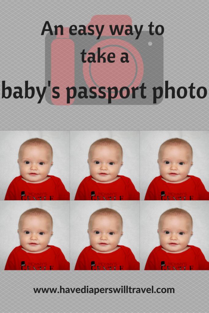 taking a baby passport photo