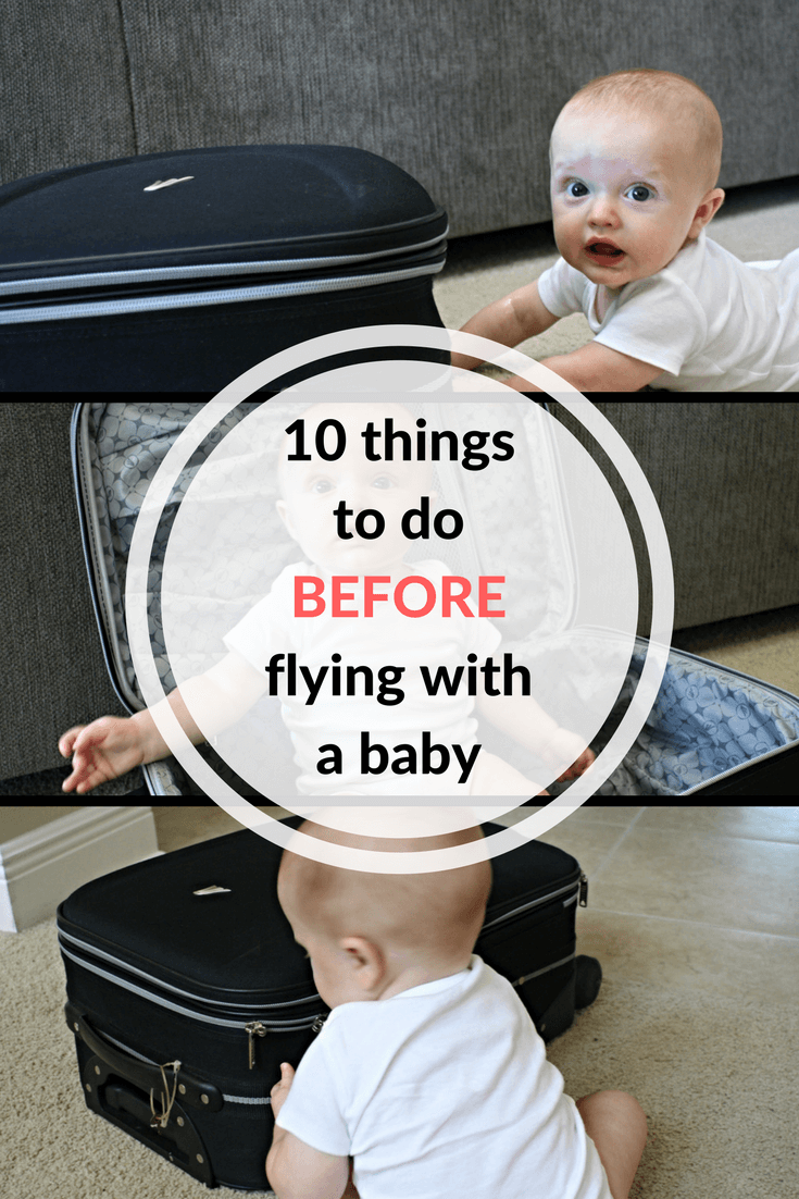 before flying with a baby