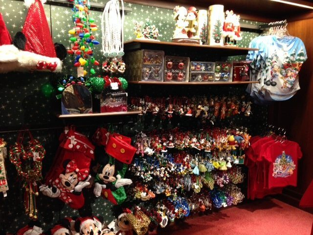 Christmas at Walt Disney World merchandise