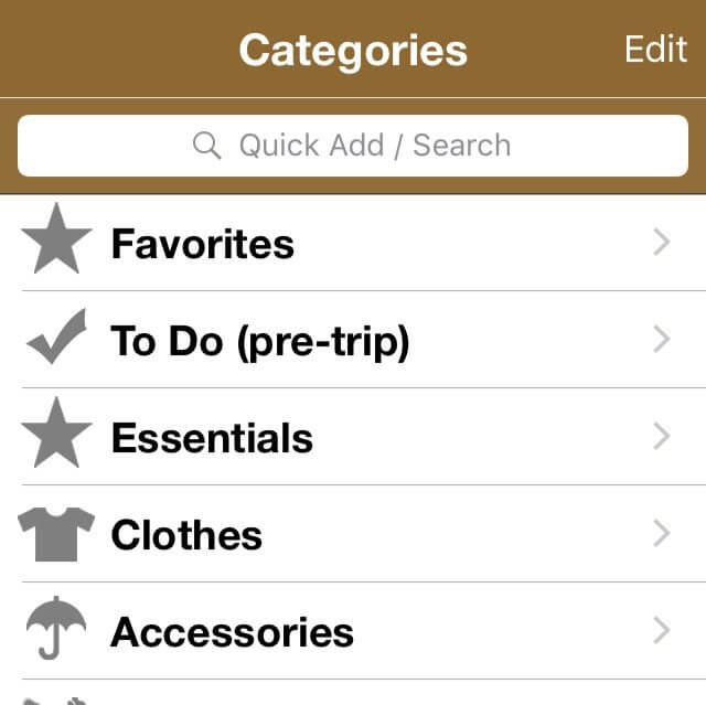 Apps for traveling with kids Packing Pro