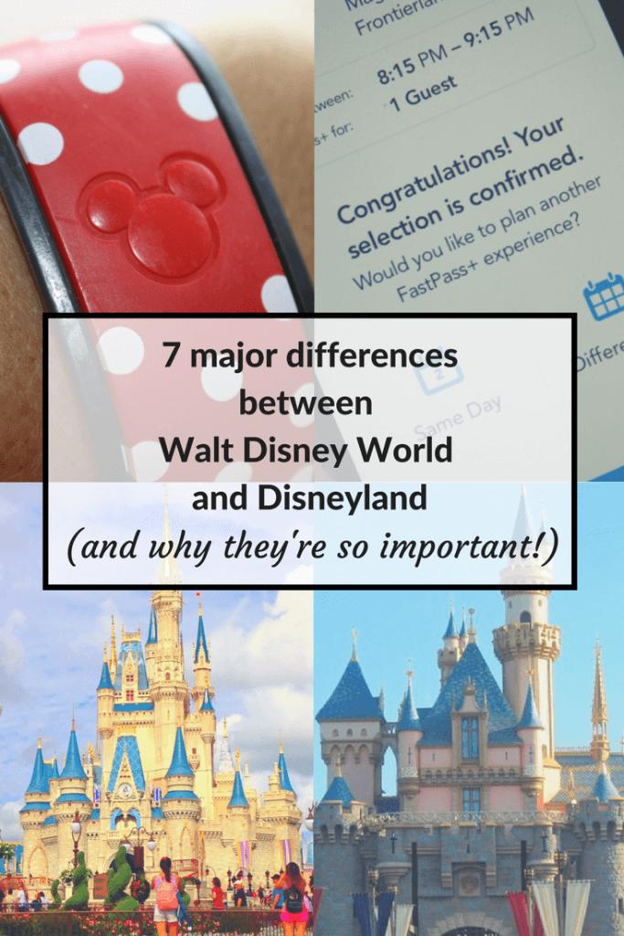 differences between Walt Disney World and Disneyland