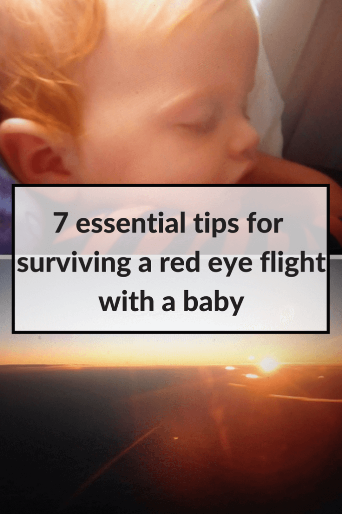 red eye flight with a baby