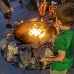 Fort Wilderness Chip and Dale Campfire and Singalong with kids