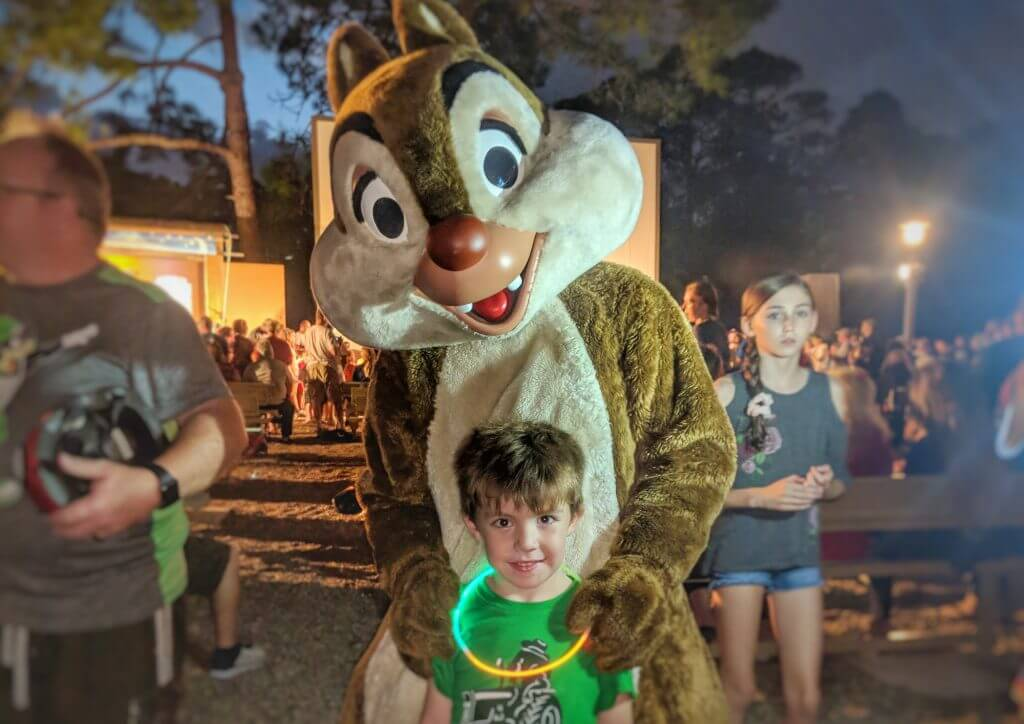 Fort Wilderness Chip and Dale Campfire