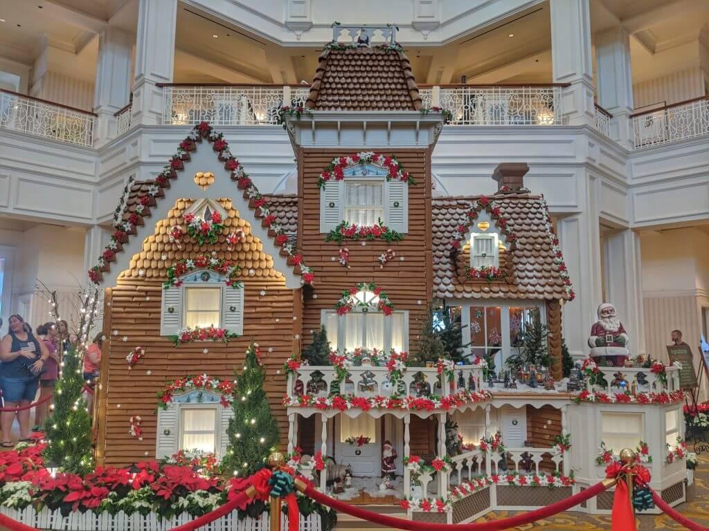 Disney resorts at Christmas