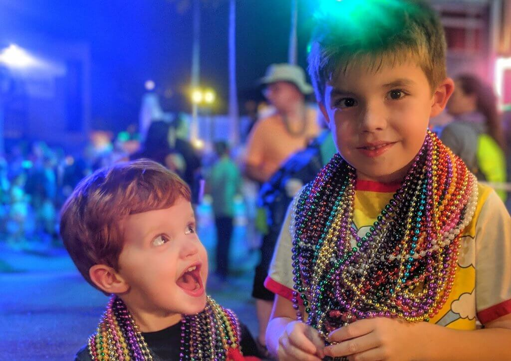 Universal Mardi Gras with kids