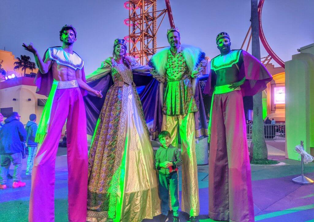 Universal Mardi Gras with kids