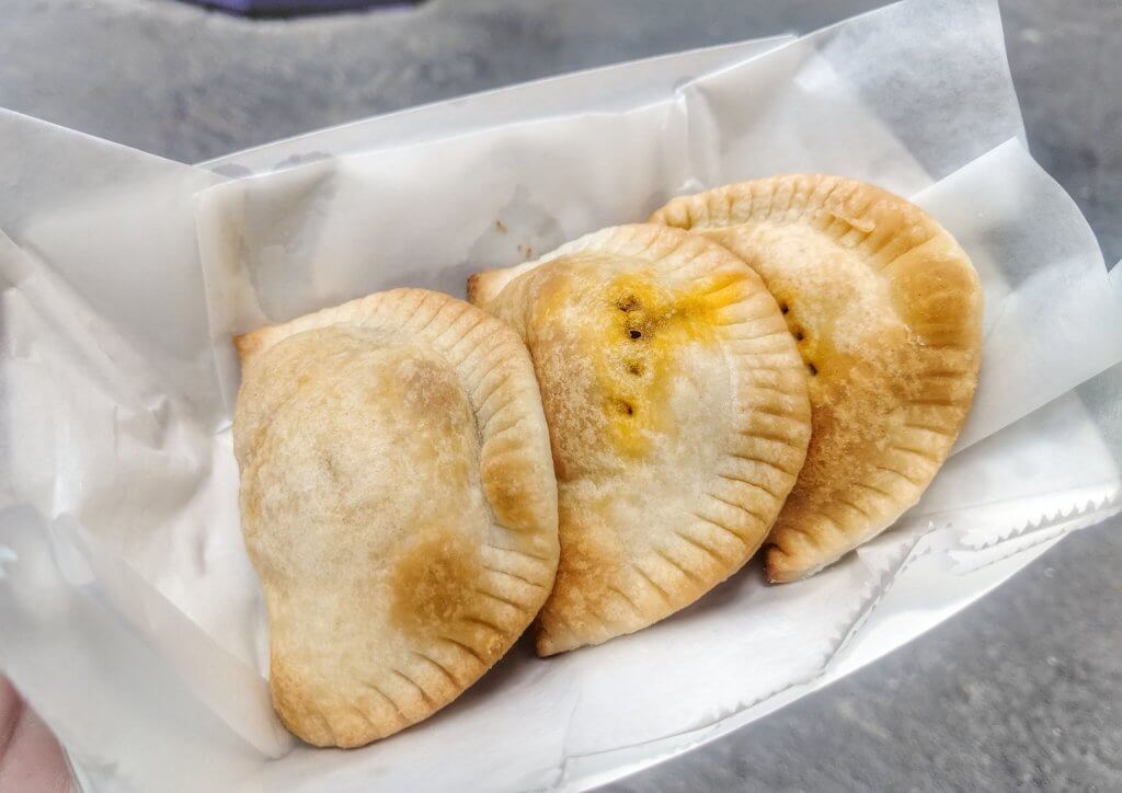 Snacks from The Wizarding World of Harry Potter beef pasties