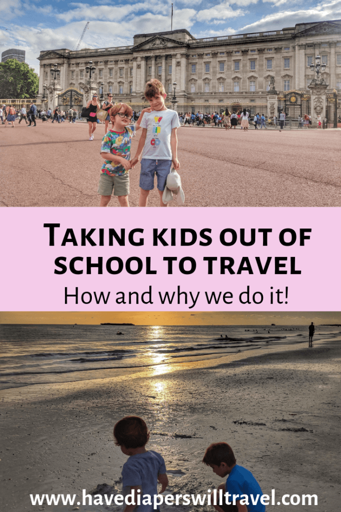 Taking a child out of school to travel