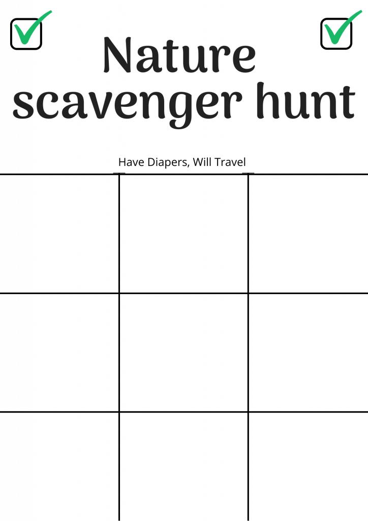 Nature scavenger hunt ideas for kids