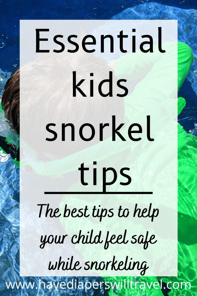 kids snorkel tips